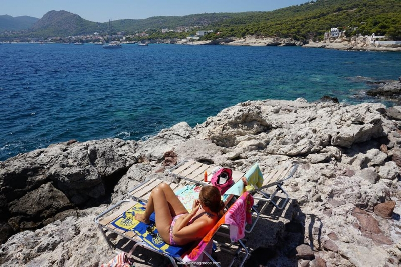Private rocky beach and snorkeling at Kavos