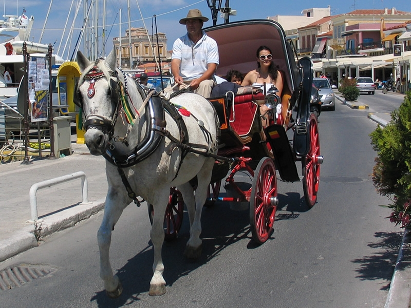 Carriage rides in Agia Marina