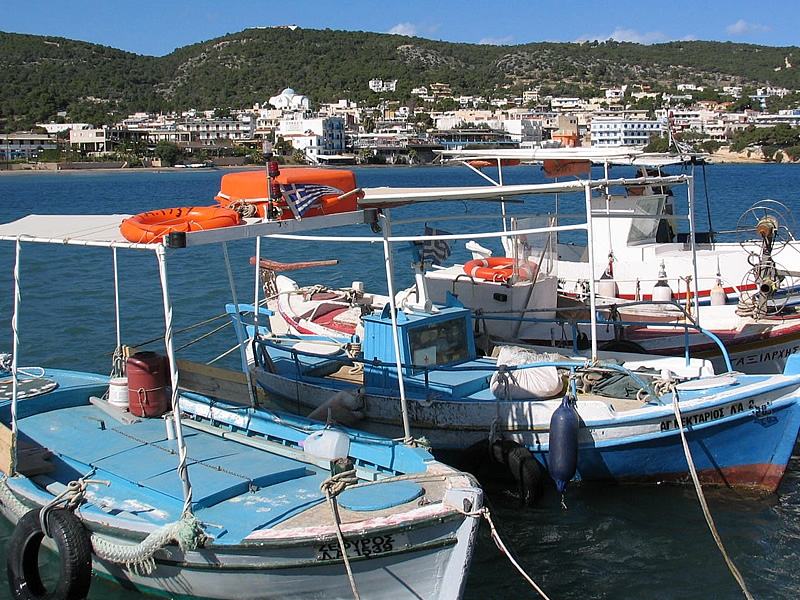 Fishing boats at Agia Marina port
