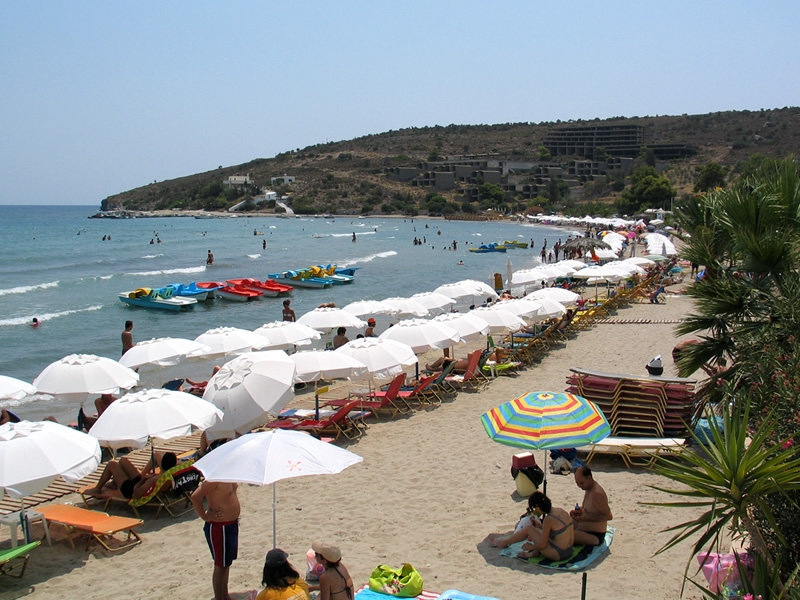 Sandy Beach in Agia Marina