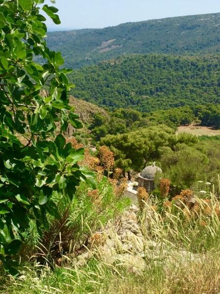 Exploring Palea Chora near Agios Nektarios