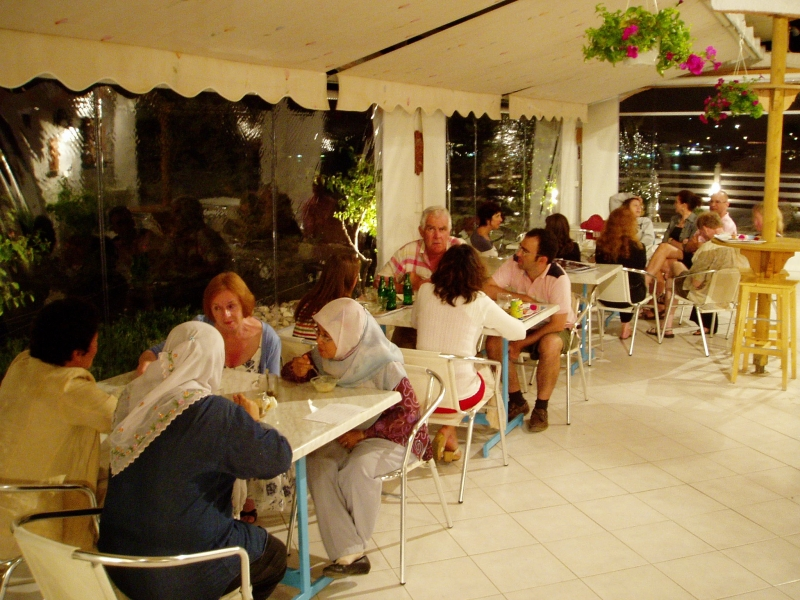 Group dining during the annual Lihe Symposium