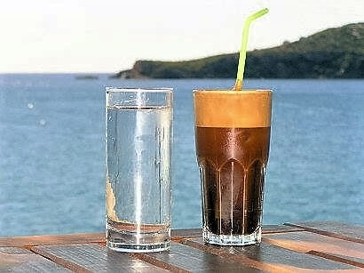 frappe' (iced coffee)