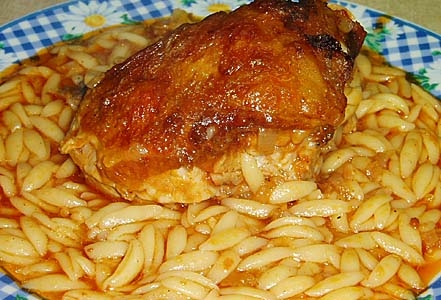 chicken giouvetsi