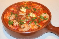 shrimp & feta saganaki