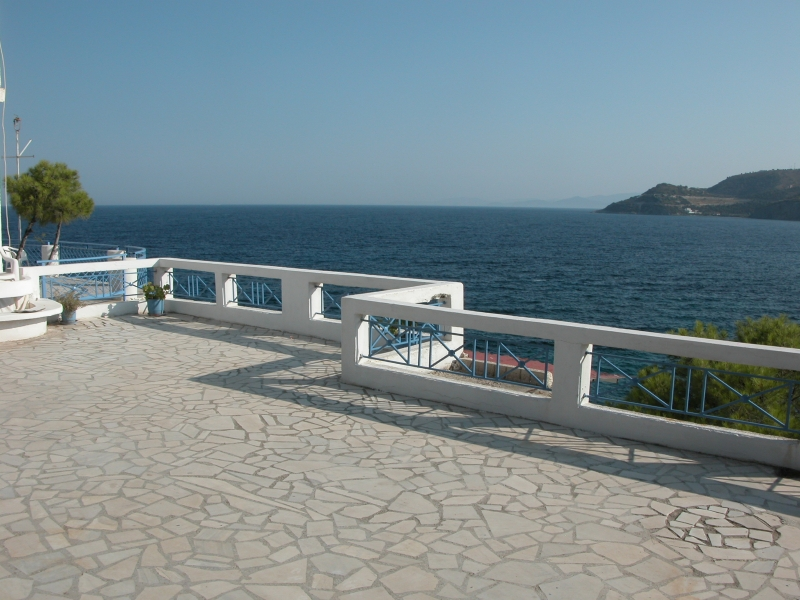 The lounge veranda